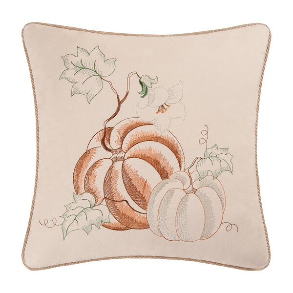 Pumpkins 100% Cotton Throw Pillow by C&F Home
